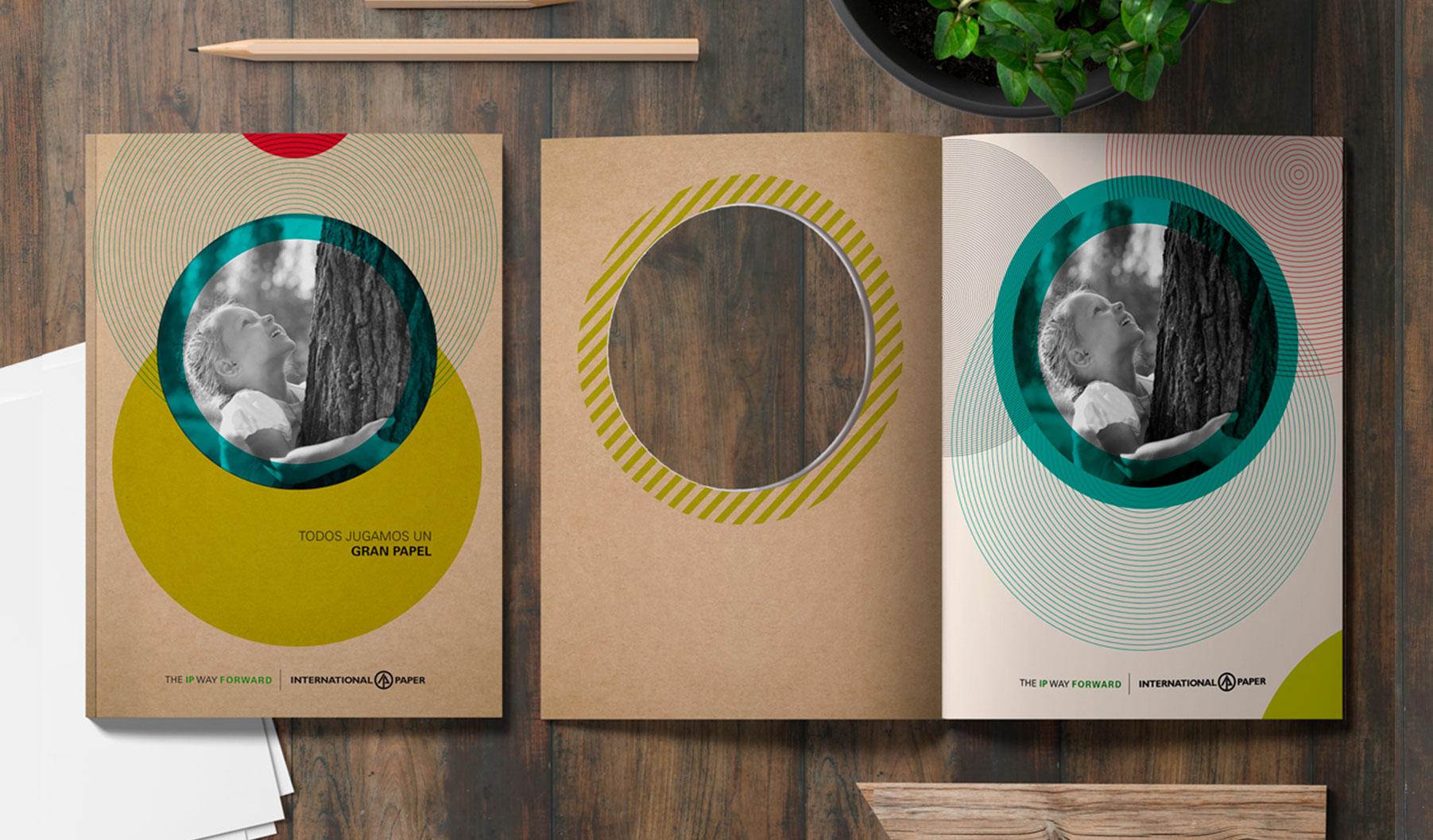 estudio diseño gráfico folleto ipaper