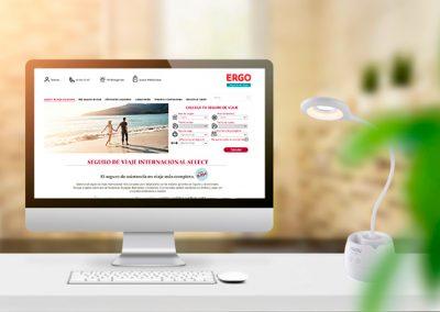 Web Ergo Seguros de Viaje